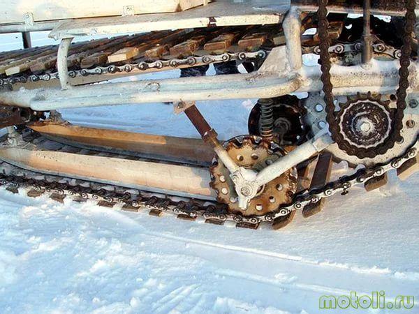 Как сделать гусеницу на снегоход самодельную