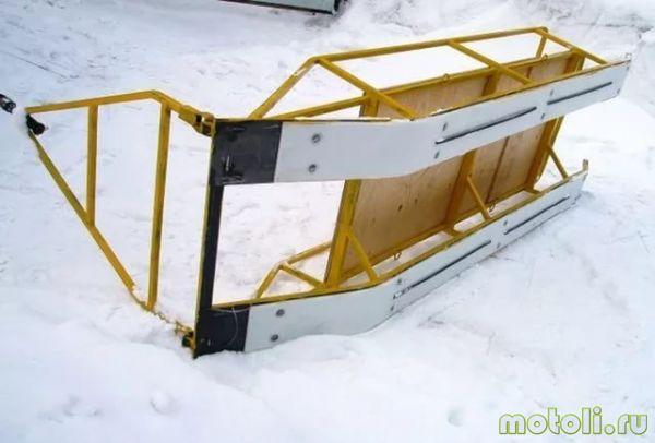 Как сделать волокушу для снегохода