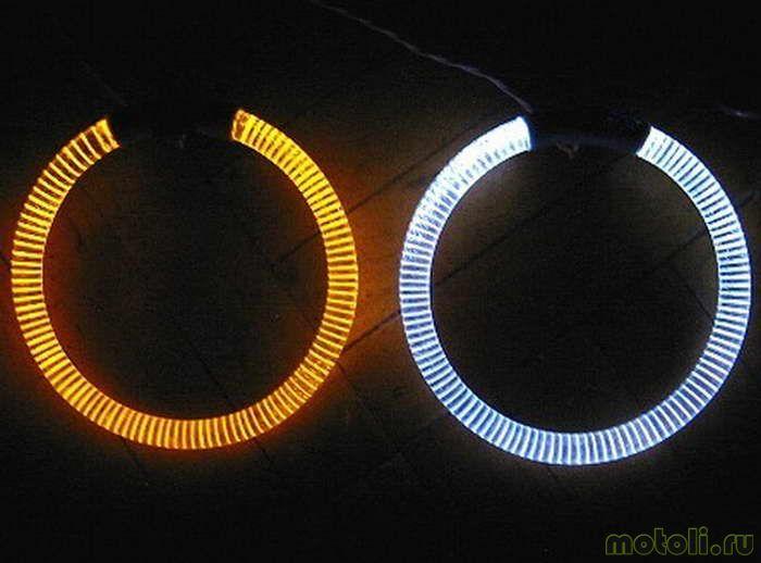 Светодиодные ленты на фары своими руками