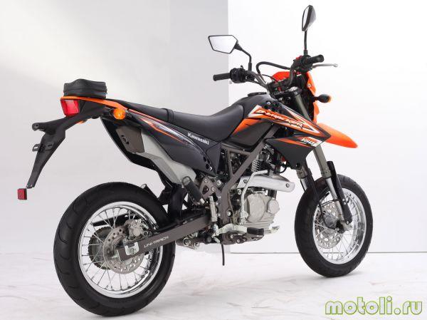 Kawasaki D-Tracker 150 вид сзади