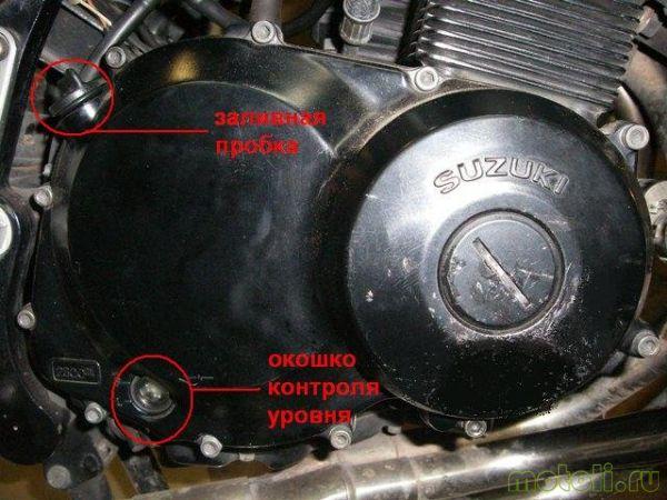 Suzuki GSF 400 bandit замена масла и фильтра