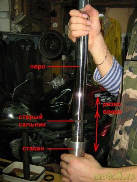 Suzuki GSF 400 bandit Замена масла, сальников и пыльников вилки