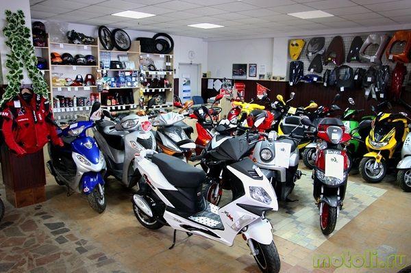 большой выбор скутеров