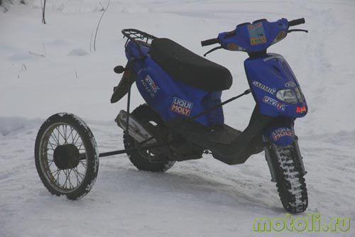 как ездить на скутере зимой