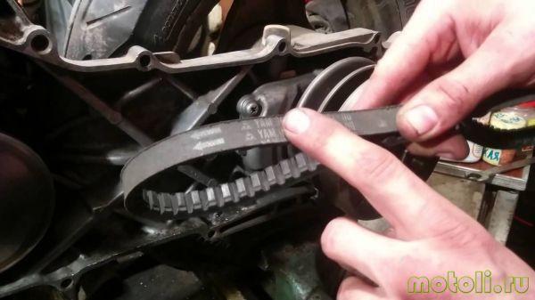 как подобрать ремень на скутере