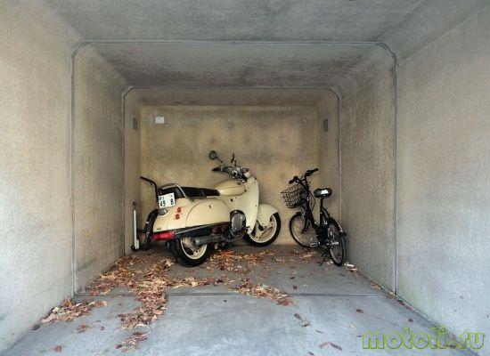 хранение скутера зимой в гараже