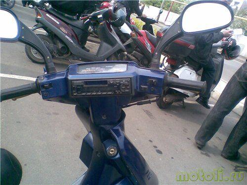 установка магнитолы на скутер