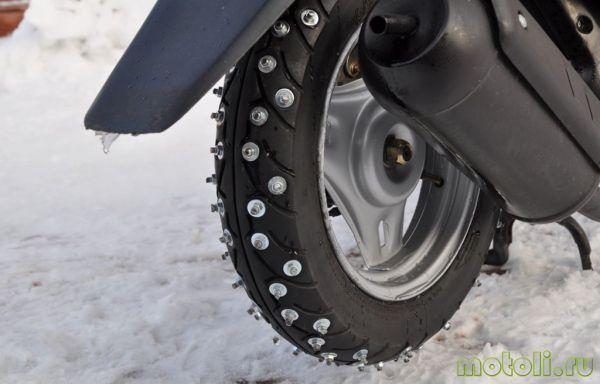 правила езды на скутере зимой