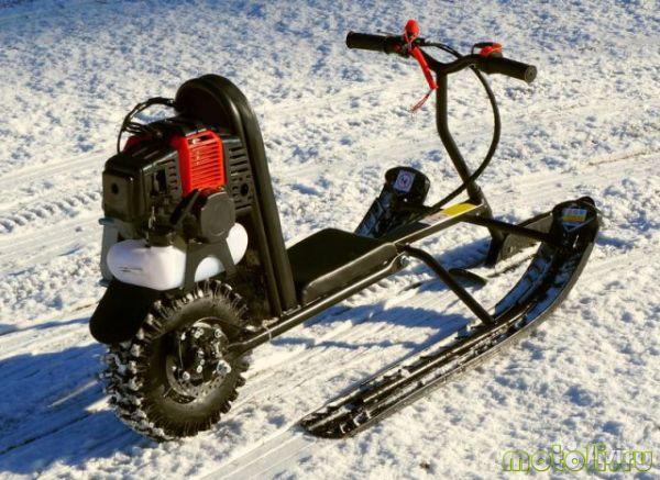 самодельный детский снегоход