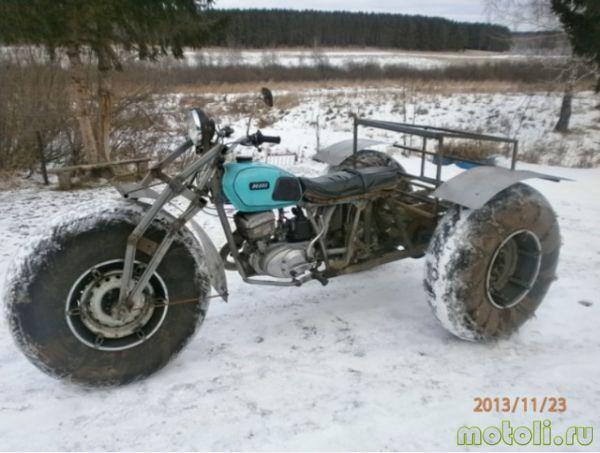 делаем снегоход из мотоцикла
