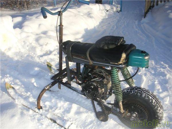 делаем снегоход из бензопилы