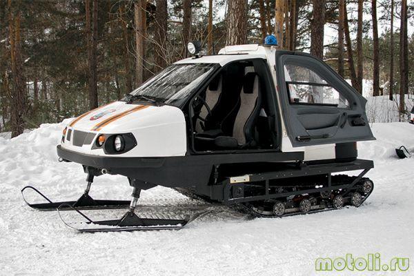снегоход с кабиной