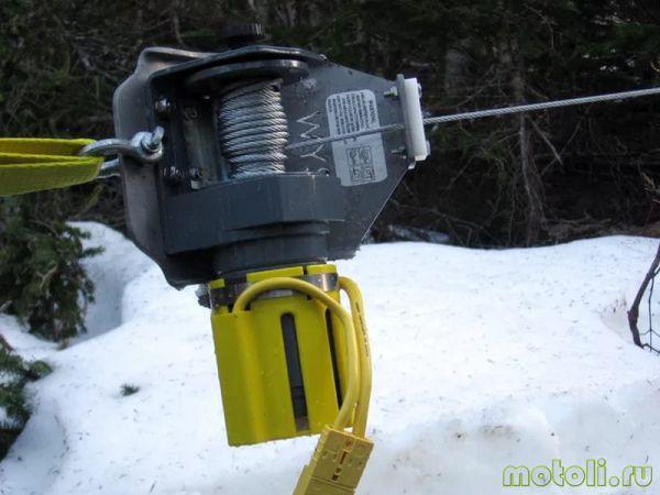 установка лебедки на снегоход