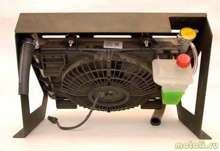 Конструкция выносного радиатора.