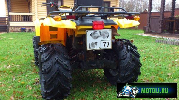 CF500-A на резине Mud Crusher
