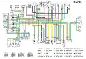 Схема электрооборудования скутера Kymco Dink 125