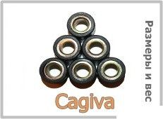 Размер и вес роликов вариатора скутеров PGO, Garelli, Cagiva — таблицы
