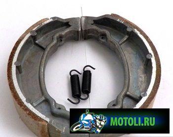 Замена колодок барабанного тормоза на скутере