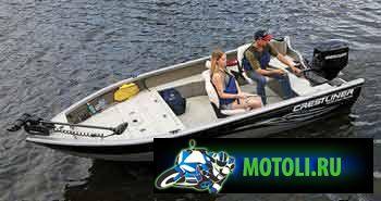 Алюминиевая лодка Crestliner Fish Hawk 1600 Tiller
