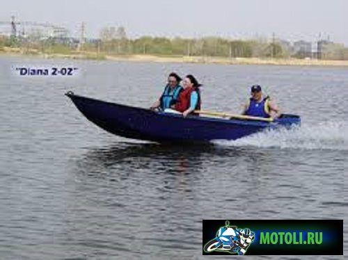 Пластиковая лодка Диана 2-02