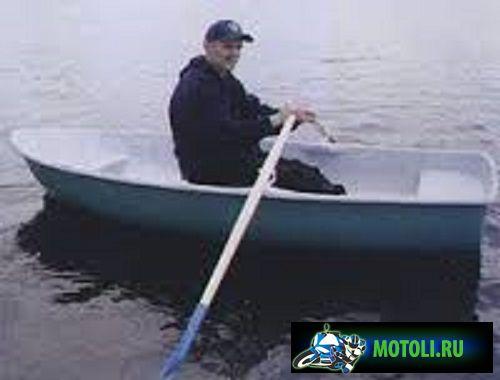 Пластиковая гребная лодка Ника 1
