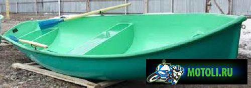 Пластиковая гребная лодка Омуль