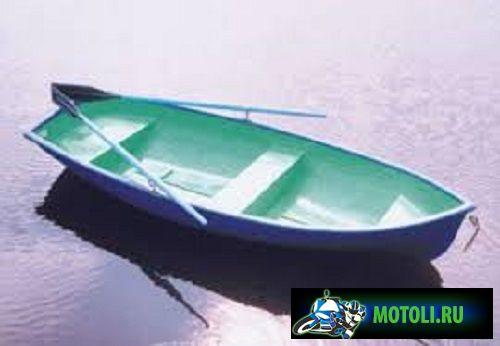 Пластиковая лодка гребная Дельфин